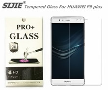 SIJIE Tempered Glass For HUAWEI P9 plus 0.26mm Screen Protector front stronger 9H hardness thin discount with Retail Package
