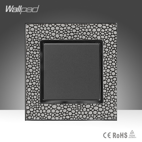 1 Gang 2 Way Sales Wallpad Luxury Leather Frame 16A 110-250V One Gang Two Way Double Control Push Wall Switch Free Shipping<br><br>Aliexpress