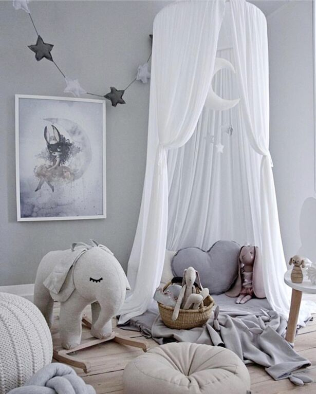Color : A Zcm Bed Canopy dome Nordic Style Princess Lace Kids Baby Canopy Mosquito Net Curtain Bedding Dome Tent