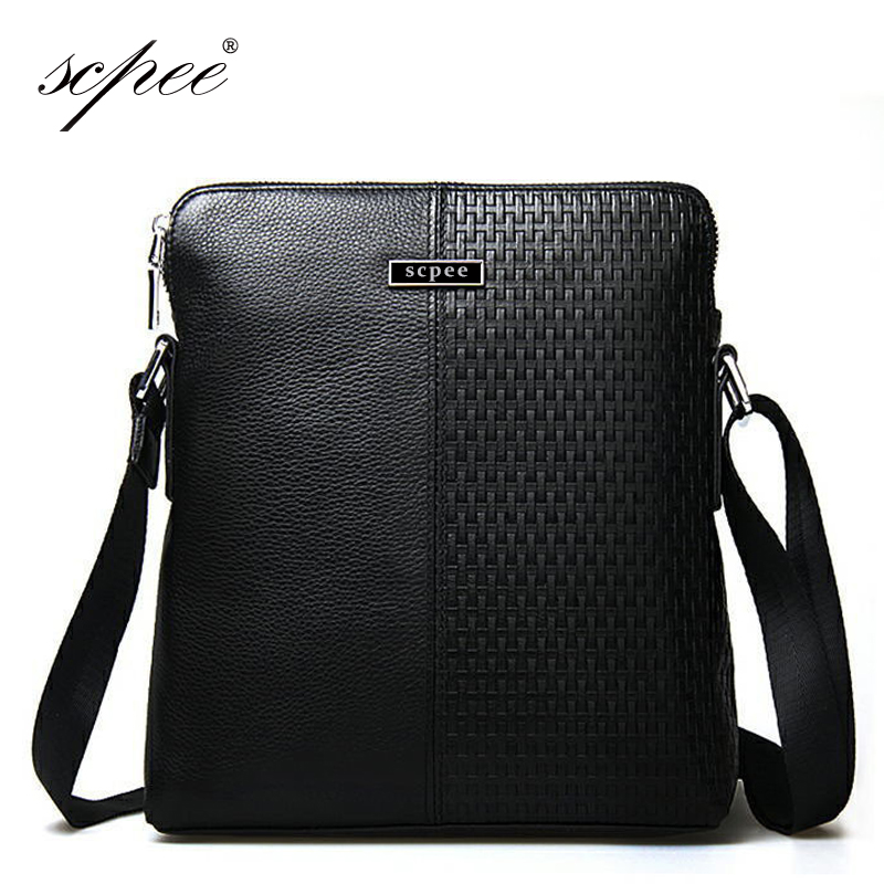SCPEE Free Shipping Mens Leather Messenger Bag High Quality Fashion Mens Casual Bag Free Shipping<br>