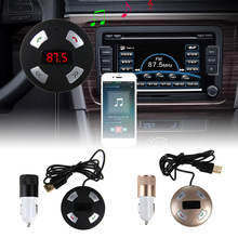 Car MP3 Audio Player Handsfree Wireless Bluetooth Car Kit FM Transmitter 2 Ports USB Car Charger For Mobile Phone