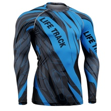 2016 Men Snorkeling Swimming Surfing Rash Guard Quick-Dry Diving Suit blue Swimsuit Clothing Tight Shirts Tops Wetsuit
