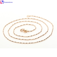Women Lady's Pretty 1 pc Italy Sexy Starry Rose Gold Chain Necklace The Republic of Korea Plate Jadoku chain Starry chain #30(China)