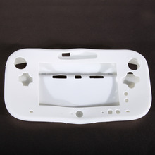 White Silicone Case Cover Skin Protector for GamePad Controller for Nintendo Wii U Gamepad ONLY Controller(China)