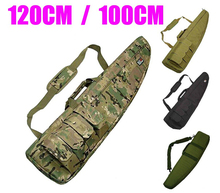 1.2M Waterproof Tactical Heavy Duty Gear Long Gun Bag Airsoft Hunting Military Foam Rubber Sniper Rifle Scope Case Firearm Pack