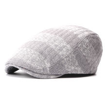 Brand Fashion Vintage Striped Autumn Winter Sun Hats for Men Women High Quality Casual Cotton Women Beret Caps Newsboy Flat Hat(China)