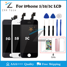 Mobile Phone LCD For iPhone 5C LCD Screen Assembly Pantalla For iPhone 5C 5S 5G Display Replacement No Dead Pixel with Gifts(China)