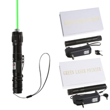 532nm 1mw 009 Green Laser Pointer Pen Burning Beam With 18650 Battery Charger EU/US Plug(China)