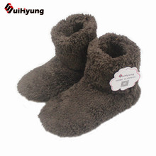 Suihyung Unisex Winter Shoes Home Slippers Pure Color Plush Warm Shoes Non-slip Floor Shoes Indoor Boots At Home Cotton Paded(China)