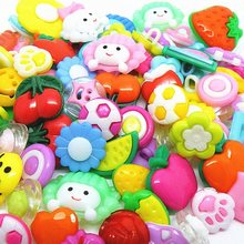 100Pcs Mixed Shaped Plastic Baby Clothes Buttons Sewing Supplies Sewing Accessories(China)