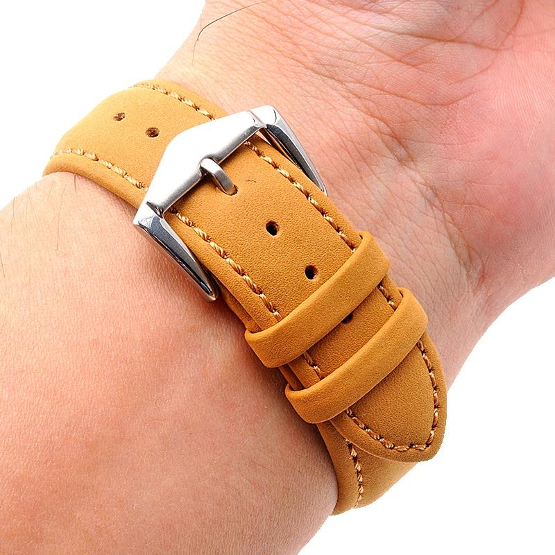 High Quality Soft Genuine Calf Leather Watch Band 20 22 24mm Watch Strap Man Watchband  For Tudor Hamilton Wrist Watch Belt <br>