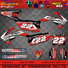 CR CRF 250 450 CR250F X CR450F X  FX two two Customized Graphics Backgrounds Decals 3M Stickers Motorcycle Dirt Bike MX Parts