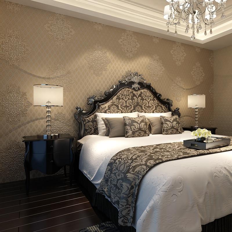 beibehang The new European non-woven wallpaper bedroom living room sofa paved 3D stereoscopic TV backdrop wallpaper version AB<br>