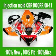 100%Fit fairing for HONDA CBR1000RR 2008 2009 2010 2011 CBR1000 RR 08 09 10 11 REPSOL ABS fairing parts #S77UU + tank