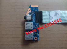 Original laptop USB interface board Sound card board with cable for HP ProBook 450 G2 455 G2 USB board Audio board LS-B183P(China)