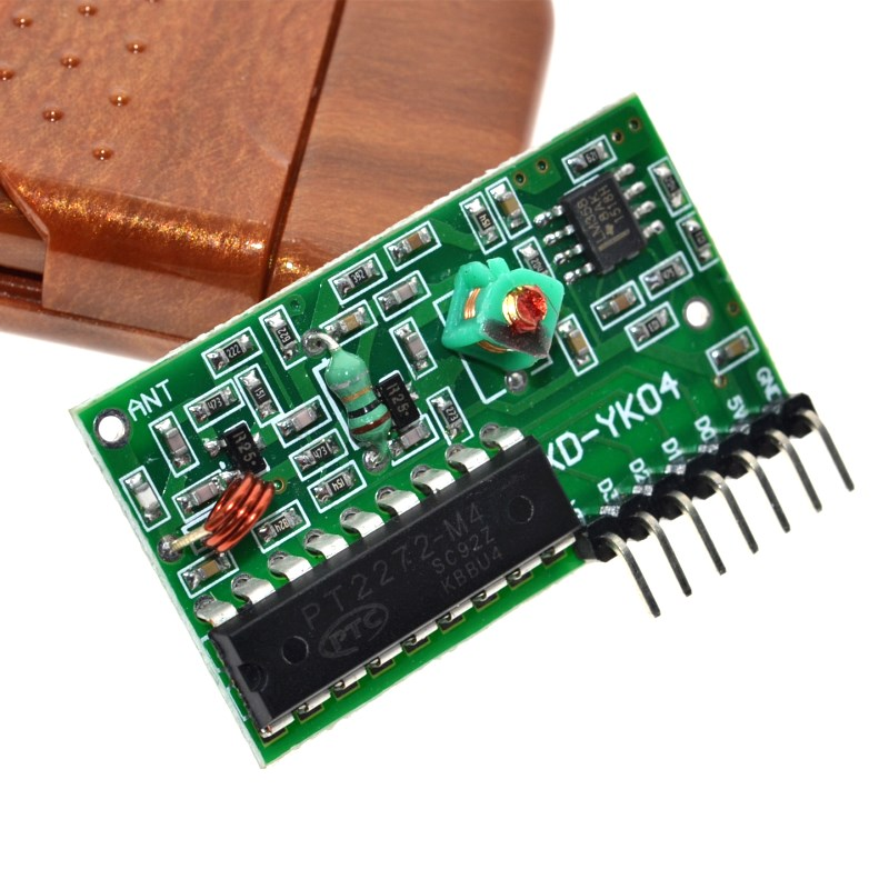 Receiver Module Arduino 315MHz IC 2262//2272 4 CH Wireless Remote Control