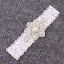 Lace and Rhinestone Headband for hair Girl Flower Girl Headband Fancy Headband Bridal headband 2pc