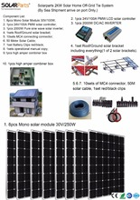 Boguang Solarparts Seriers 1x 2000W Solar Home off-grid tie systems sea shipment 8pcs 250W mono solar modules bracket controller(China)
