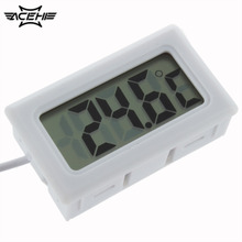 2017 1Pcs Temperature Measurement LCD Display Digital Thermometer for Aquarium Freezer Black and White Color Thermoregular
