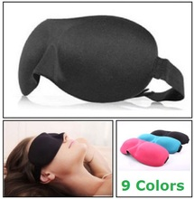 1 Stuk! HOT SALES 3D Draagbare Soft Travel Sleep Rest Aid Oogmasker Kleur Zwart Cover Eye Patch Slaapmasker Case
