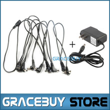 US 9V DC 1A Guitar Effects Power Supply / Supplies Adapter With Cable 8 Way Daisy Chain Cord For pedal