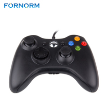 FORNORM Wired USB Gamepad Game Controller Joystick For Microsoft Xbox 360 WII PS3 Slim PC Windows High Quality Black And White(China)