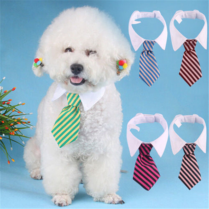 Striped Pet Tie High Quality Polyester + Cotton Gentleman Style Dog Cat Necktie dropshipping(China)