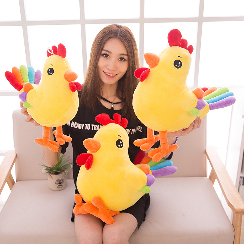 New Child Plush Toys Chicken Dolls New Kawaii Creative Colorful Chicken Toy For Kids Stuffed Animal Dolls D33<br><br>Aliexpress