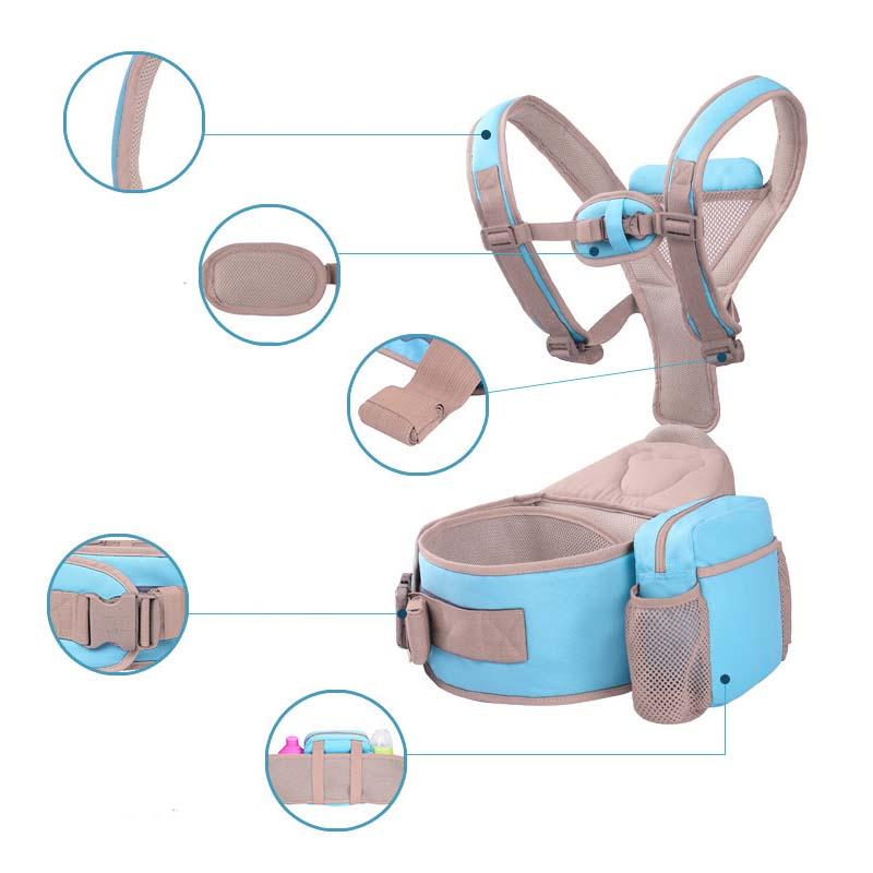 multifunction kangaroo hipseat Kids Baby carrier bag bags basket backpack 4 in 1 Infant Toddler Breathable baby care monitor<br>