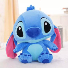 38CM One Piece Lovely Anime Stitch With Big Ear Plush Toys Super Soft PP Cotton Stuffed Brinquedos Birthday Presents 2 Colors(China)