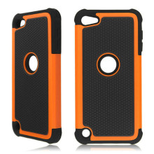 For Touch 4 Heavy Duty Shockproof Plastic Hard Case Rubber Cover For Apple ipod touch 4 4g 4th Capa
