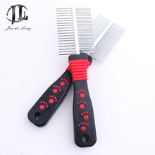 2017 High-end Pet Supplies Footprint Style Dog Comb Both Sides Prevent Knotting Pet Dog Comb Promote Skin Metabolism