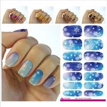 2017 Rushed Real V646 Water Transfer Foil Nails Art Sticker Christmas Snowflake Flash Diamond Designs Manicure Decor Decals