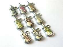 100pcs Mini nursing bottle DIY charms make cute affordable jewelry gifts