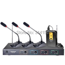 Takstar TC-4R VHF Wireless Microphone 1 Body-pack mic+3 Conference mic  for  Conference, lecture, Broadcasting, program hosting