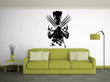 Creative Movie Characters Wall Sticker Wolverine X Man Superhero Vinyl Wall Decals Home Room Special Decor Wall Mural wm-1(China)