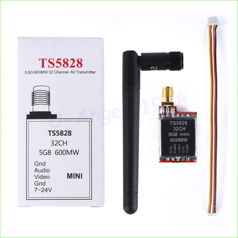 New Version 5.8GHz 600mW 32 Channels Mini Wireless A/V Transmitting (TX) TS5828 for 5.8g receiver for DJI gopro FPV Quadcopte<br><br>Aliexpress