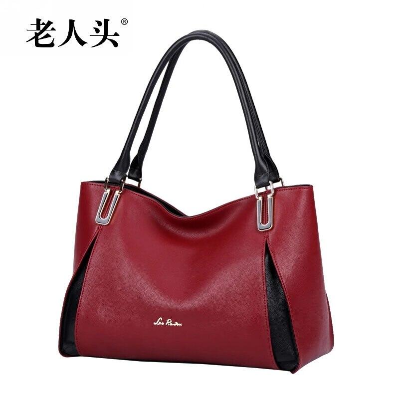2016 new LAORENTOU famous brands genuine leather women bag quality fashion real cowhide bag women handbag Shoulder Bags<br><br>Aliexpress