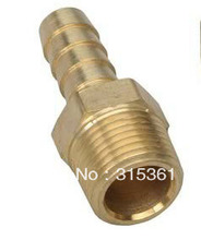 "Free Shipping 10PCS/LOT 3/8"" Thread Thread Air Fuel Water Solid Brass Fitting Coupling Barb"