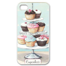 Cupcake Printed Cover Case for iPhone 4 4S 5 5S 5C SE 6 6S Plus Samsung Galaxy S3 S4 S5 Mini S6 S7 Edge Plus A3 A5 A7