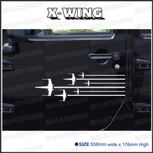 free shipping 2PC ROGUE SQUADRON X-WING Star Wars Hood Side Stripes for  rear window or car door badges detailing decals