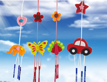 Children cloth art wind chimes Manual creative DIY Toy Handmade Nonwoven fabric baby room decorates material toys for children(China)