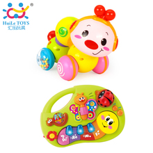 2pcs/Lot Baby Toys Musical Instruments Playing Set Colorful Educational Toys Piano & Creeping Worm with Music & Lights 927&997(China)