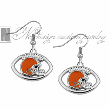 Cleveland Browns super bowl champion Enamel Earrings Rugby  Team Fans Dangle Earrings NE0693