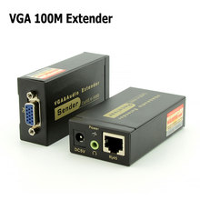 High Definition 1920x1440 VGA Extender Over 100M Cat5e/6-568B Network Cable Sender Receiver Adapter for HDTV Porjector Monitor