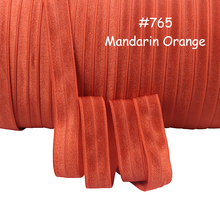 (100 yards/lot/color)FLORA RIBBONS free shipping mandarin orange fold over elastic(China)