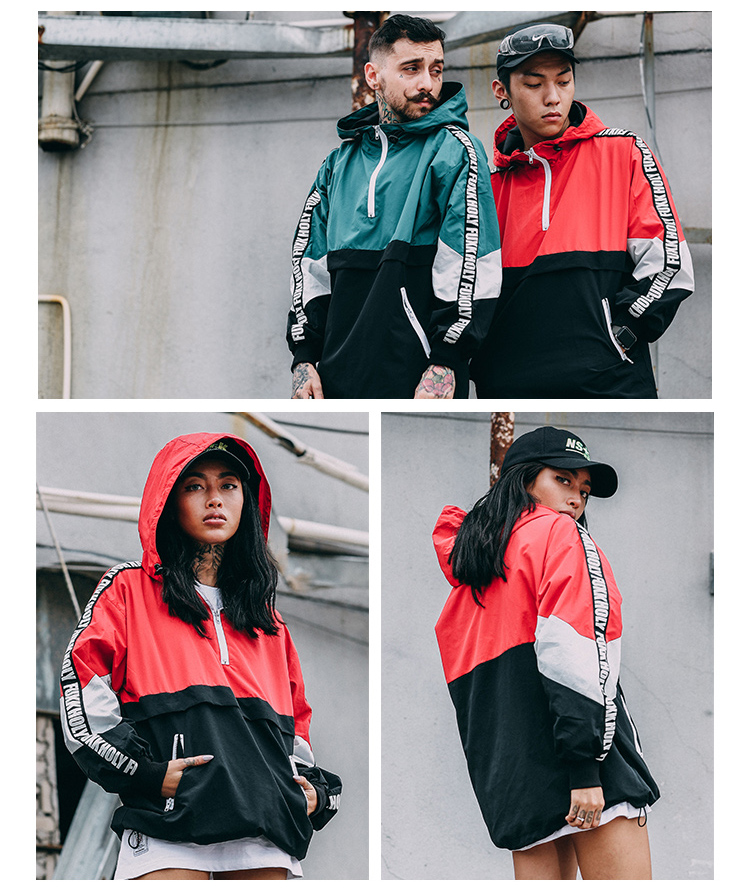 Aolamegs Men Hoodies Fashion Harajuku Loose Hoody Tops Windbreaker Youth Couple Contrast Color Hip Hop High Street Wear Pullover (11)