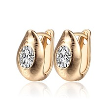 Gold-Color Hoop Earrings For Women, Double Hoops 3 Colors Plating Jewellery, Free Shipping (16E18k-93)