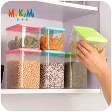 New Plastic Food Storage Box Sealed Crisper Grains Tank Storage Kitchen Sorting Food Storage Box Container