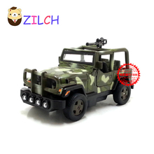1:43 ETI Russian military jeep suv alloy car model in original box pull back muical flashing toy for children